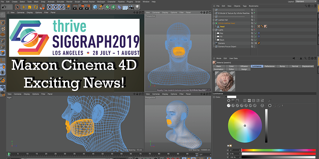 Maxon Cinema 4D News from SIGGRAPH 2019 and Maxon 3D Motion